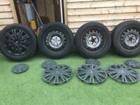Mercedes Vito steel wheels and tyres