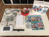 Nintendo wii U + games pokken tournament and accessories + Pokemon Amiibo figures