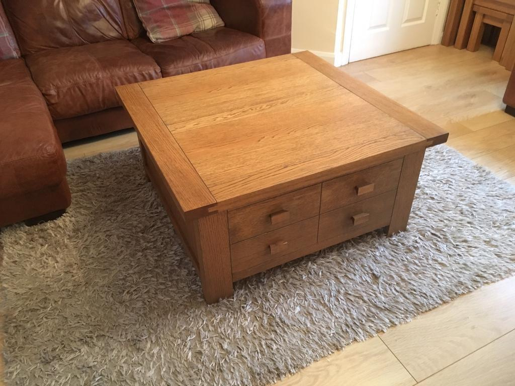 Solid oak square g plan coffee table in linlithgow west lothian solid oak square g plan coffee table geotapseo Images