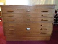 A1 size plan chest with 6 drawers suitable for architects or artists