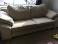 NEW DFS EX DISPLAY BEIGE 3+2 SOFA SUITE DELIVERY FREE