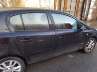 Vauxhall Corsa D - 5 Door Model Drivers Door in Black 2007