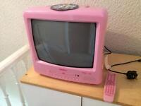 TV and DVD player.