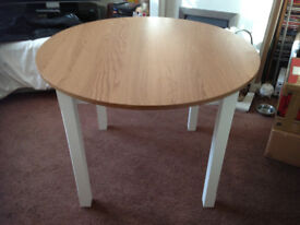 Brand new wood effect round table