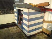 Handbuilt garden shed in beach house colours!