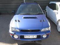 Subaru Impreza Turbo 2000 93-97 Front Bumper Reddish Blue