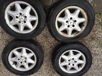 Mercedes c class alloys wheels 15 inch rims 205 65 r15.