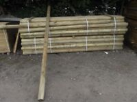 Timber fence pole 100mmx3m