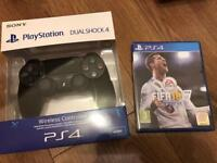 Brand new PS4 controller + FIFA 18