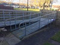 Disabled wheelchair ramp