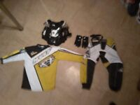Child's wulf sport motocross outfit