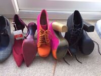 8 pairs of shoes - size 4 - Bargain all for £15