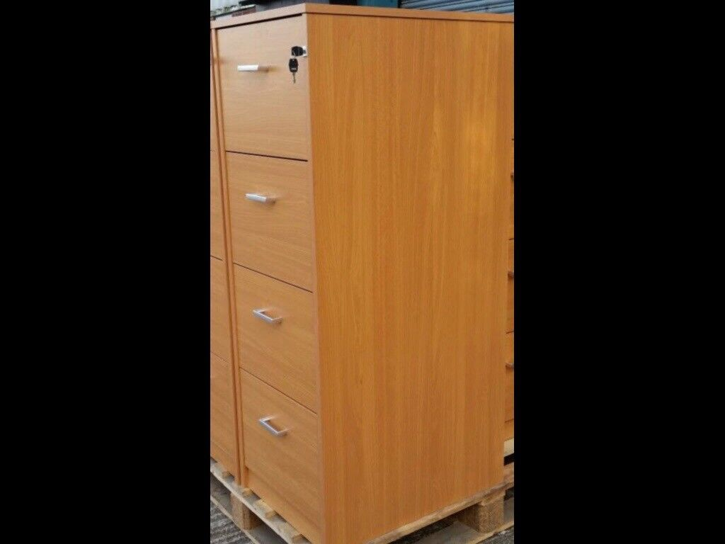 Brand New 4 Drawer Filing Cabinet Heavy Duty Professional Quality H135cm x W48 x D66