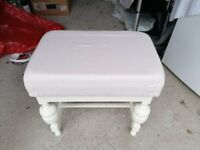 White piano stool