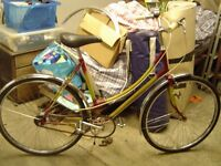 vintage raleigh womens town bike