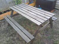 Pub garden bench