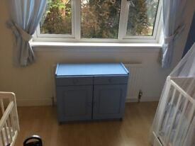 Baby Blue Wooden Chest