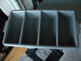 Catering Cutlery Tray Grey By Rubbermaid