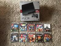 PlayStation 3 Slim 320GB + 2 Controllers + 10 Game