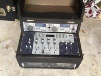 Professional CD Mixer Decks disco DJ