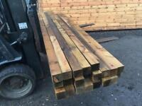"""Fence posts 8ft, 3""""x3""""/ 75mmx75mm . Timber. Delivery availiable"""