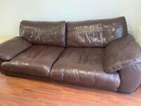 Brown leather sofa £40