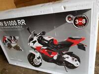 BRAND NEW KIDS BMW S1000 RR 12V MOTORBIKE FOR QUICK SALE