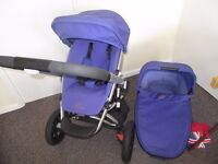 Quinny Buzz Xtra lilic colour pram pushchair with carry cot 0-4 years pick up free baby carrier