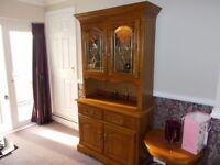 Oak Dresser, Corner TV Unit & Small Round Lamp Table