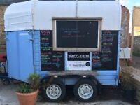 Converted Catering Trailer with Belgian Waffle Maker