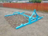 Tractor three point linkage folding grass harrows in very good condition