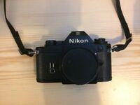 Nikon EM 35mm SLR Film camera - camera shop refurb. Body only.