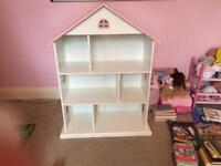 Children's dolls house bookcase