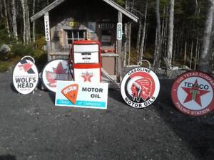 OLD TIME GAS AND OIL SIGNS