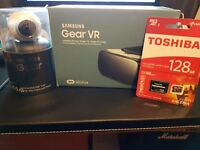 Samsung Gear VR Bundle - (Gear 360 Camera, Gear Virtual Reality Headset, 128gb Micro SD Card)