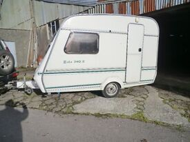 Compass Echo 2 berth compact light weight caravan 1995 in very nice condition