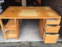 Solid Pine Ikea Desk