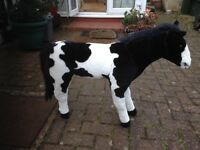 Lovely toy black and white large horse, only £20