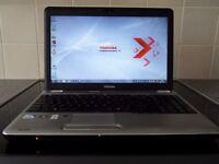 "Toshiba L500 15.6"" HDMI WebCam WiFi Intel Core2 Duo 2.1GHz 3GB RAM 160GB HD DVDRW 2Hr Battery"