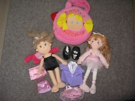 Three Soft Doll, Poppy Doll and Bag and Changeable Outfits