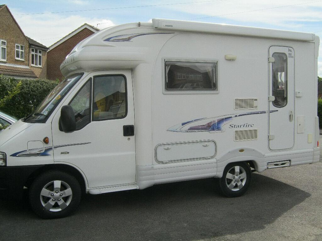 motorhome motorcaravan peugeot boxer autocruise starfire 2006 low
