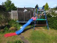 ELC Children Garden Slide with top nest, extension and climbing frame