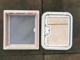 Caravan inner skylight and thetford door