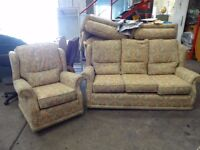 3 seater sofa & 1 Arm Chair cheap for quick sale