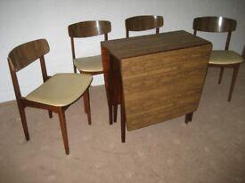 DROP LEAF TABLE RETRO FORMICA TABLE 1960's TABLE FOLDING TABLE GATE LEG TABLE