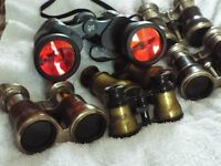 6 Pairs of Binoculars 3 different sizes.