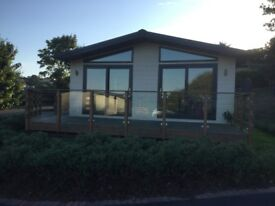 Holiday home on quiet Lodge Park in Conwy area.