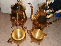 piece set of A1 silver plated pots