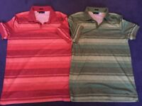 2 Perfect condition J Lindeberg Performance Polo Shirts Size: Small Green and Red
