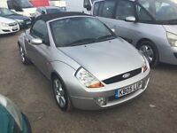 2005 FORD KA STREET CONVERTIBLE VERY LOW MILEAGE MOT BLACK LEATHER INTERIOR SPORTY CONVERTIBLE